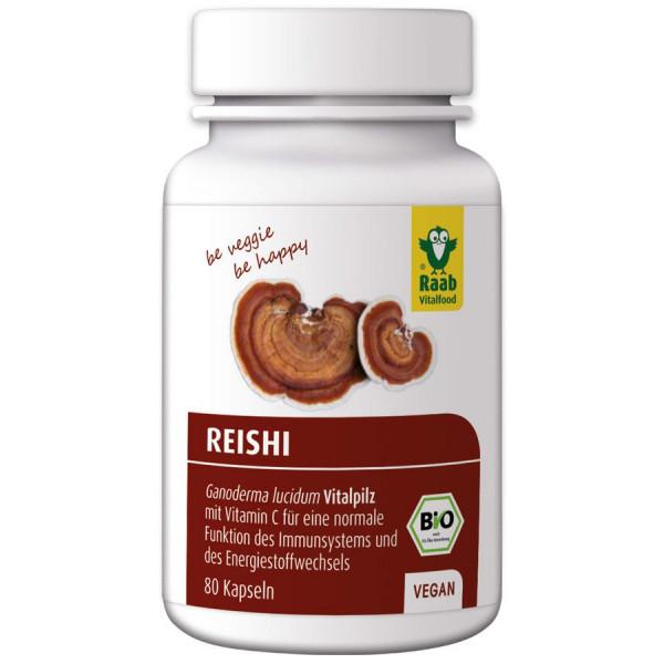 *Bio Bio Reishi Kapseln, 80 Stück à 400 mg (32g) Raab Vitalfood