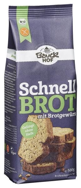*Bio Schnellbrot mit Brotgewürz glutenfrei Bio (500g) Bauckhof