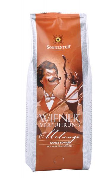 *Bio Melange Kaffee ganze Bohne Wiener Verführung®, Packung (500g) Sonnentor