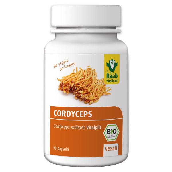*Bio BIO Cordyceps Kapseln 90 Stück à 400 mg (36g) Raab Vitalfood