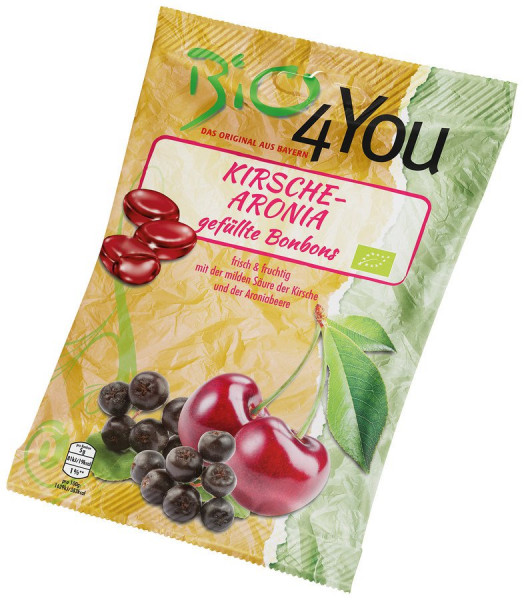 *Bio Bio-Bonbon-Kirsche-Aronia, gefüllt (75g) Bio4You