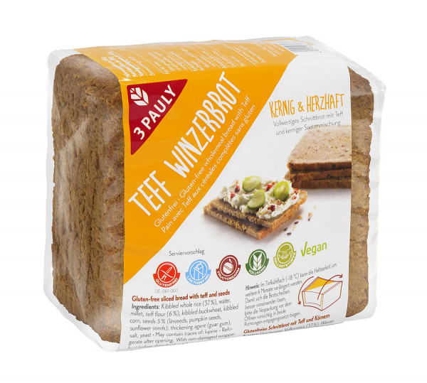 Teff Winzerbrot glutenfrei (500g) 3PAULY