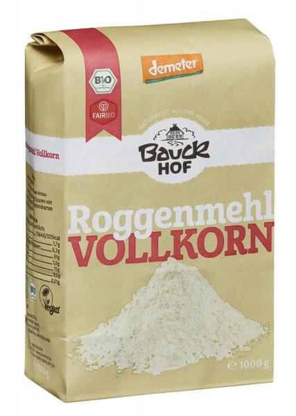 *Bio Roggenmehl Vollkorn Demeter (1000g) Bauckhof