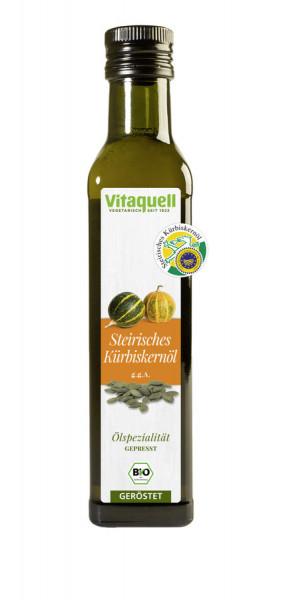 *Bio Steierisches Kürbiskern-Öl Bio geröstet, kaltgepresst g.g.A. (0,25l) Vitaquell