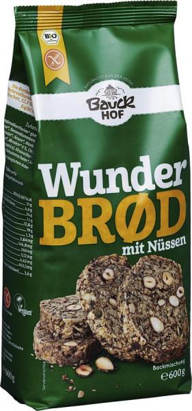 *Bio Wunderbrød mit Nüssen glutenfrei Bio (600g) Bauckhof