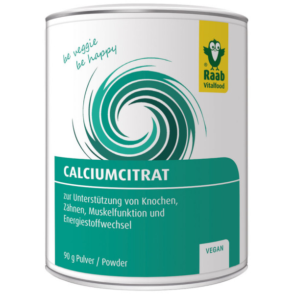 Calciumcitrat Pulver (90g) Raab Vitalfood