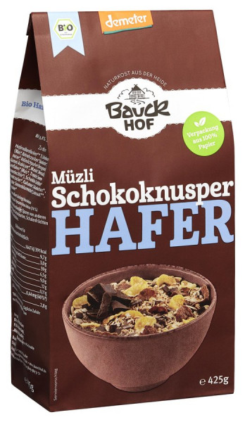 *Bio Hafer Müzli Schokoknusper Demeter (425g) Bauckhof