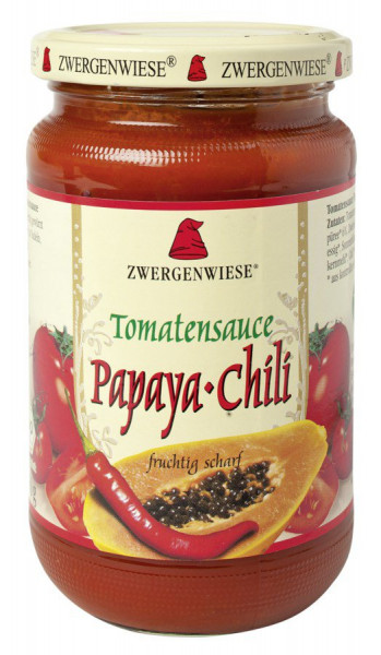 *Bio Tomatensauce Papaya-Chili (340ml) Zwergenwiese