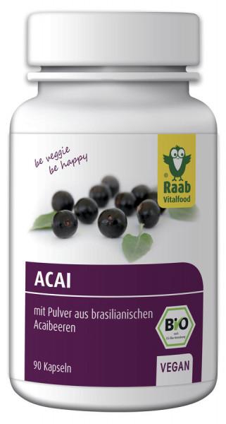 *Bio Bio Acai Kapseln, 90 Stück (36g) Raab Vitalfood
