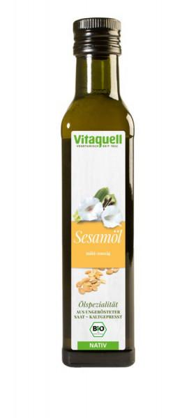 *Bio Sesam-Öl Bio nativ, kaltgepresst (0,25l) Vitaquell