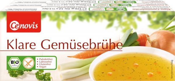 *Bio Klare Gemüsebrühe Würfel, bio 3 x 12 Würfel (378g) Cenovis