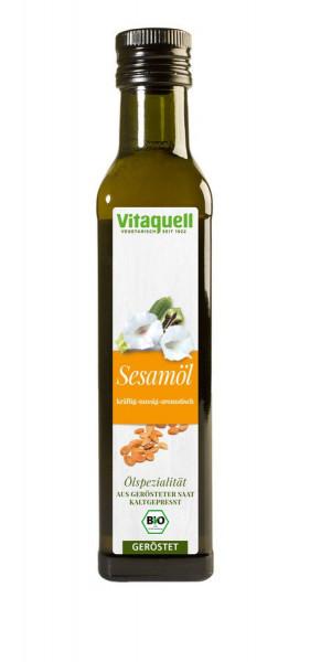 *Bio Sesam-Öl Bio geröstet, kaltgepresst (0,25l) Vitaquell