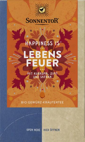 *Bio Lebensfeuer Tee Happiness is®, Doppelkammerbeutel (30,6g) Sonnentor