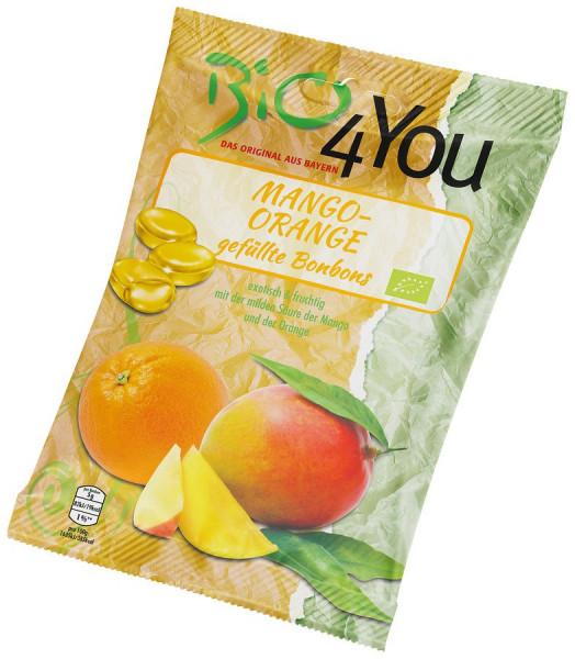 *Bio Bio-Bonbon-Mango-Orange, gefüllt (75g) Bio4You