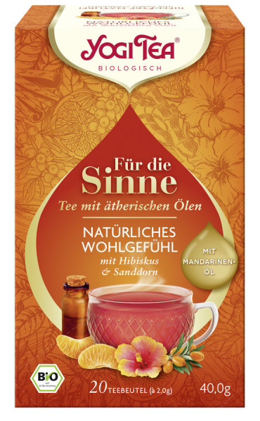 *Bio Yogi Tea® Für die Sinne Natürliches Wohlgfühl Bio (20x2,0g) Yogi Tea® , Yogi Tea GmbH