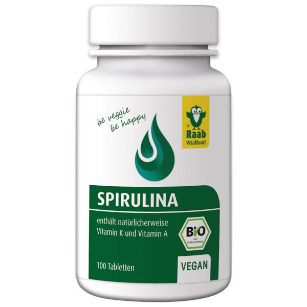 *Bio Bio Spirulina (Mikroalgen) 100 Tabletten (40g) Raab Vitalfood