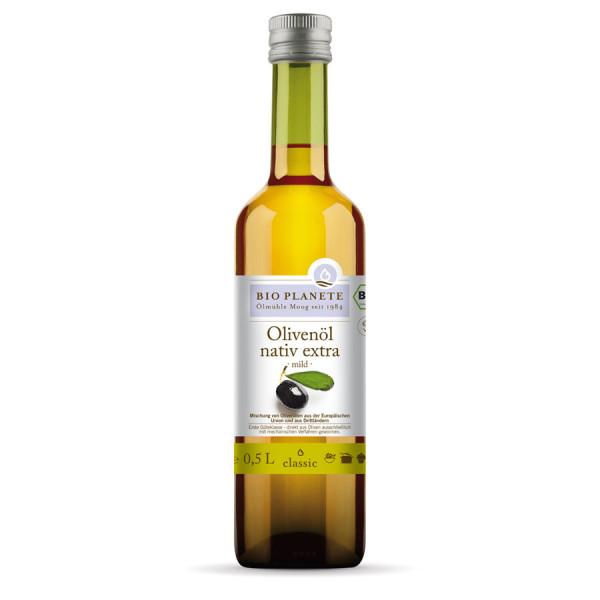 *Bio Olivenöl mild nativ extra (0,5l) BIO PLANÈTE