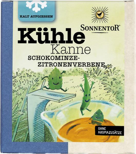 *Bio Kühle Kanne Schokominze-Zitronenverbene Tee, Pyramidenbeutel (32g) Sonnentor
