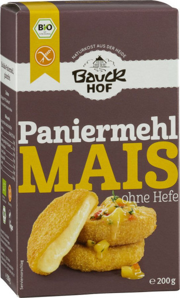 *Bio Mais Paniermehl ohne Hefe glutenfrei Bio (200g) Bauckhof