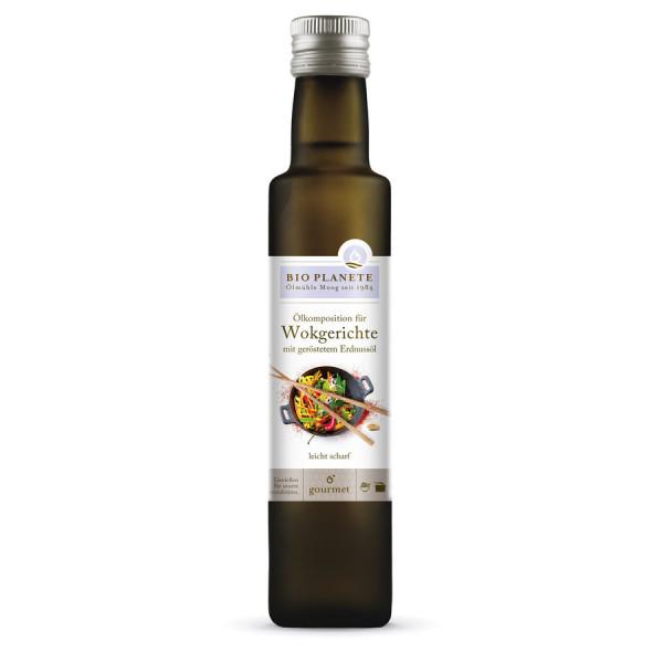 *Bio Ölkomposition für Wokgerichte mit geröstetem Erdnussöl (0,25l) BIO PLANÈTE