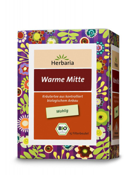 *Bio Warme Mitte Tee bio 15 FB (24g) HERBARIA