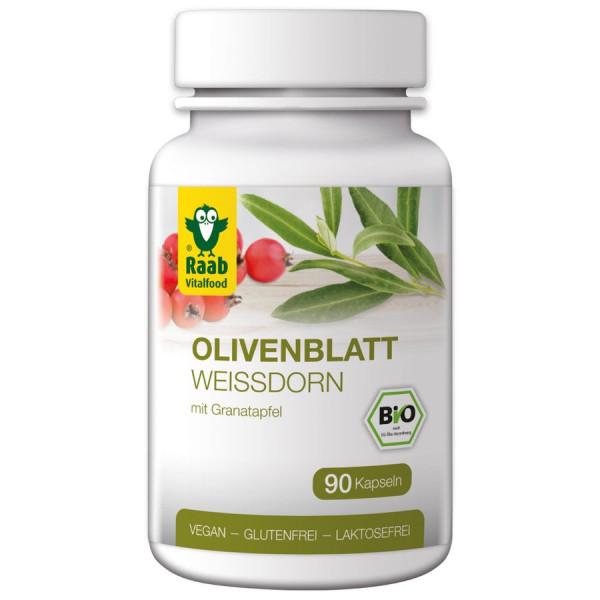 *Bio Bio Olivenblatt-Weißdorn Kapseln (36g) Raab Vitalfood