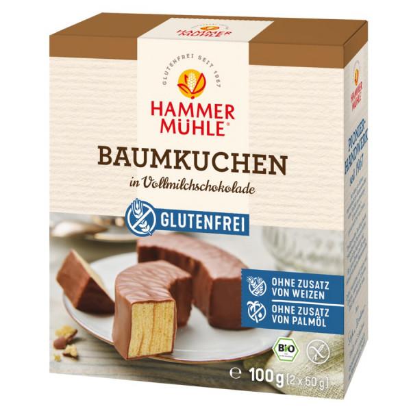 *Bio Bio Baumkuchen in Vollmilchschokolade gf (100g) Hammermühle