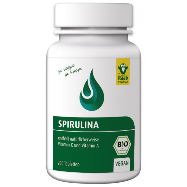 *Bio Spirulina (Mikroalgen) 200 Tabletten (80g) Raab Vitalfood