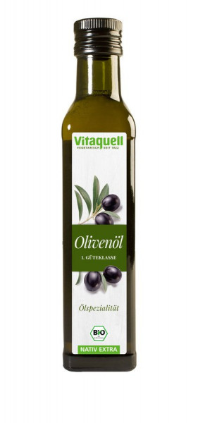 *Bio Oliven-Öl Bio, nativ extra 1. Güteklasse (0,25l) Vitaquell