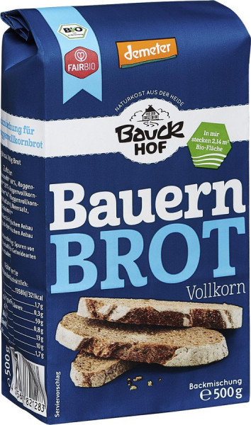 *Bio Bauernbrot Vollkorn Demeter (500g) Bauckhof