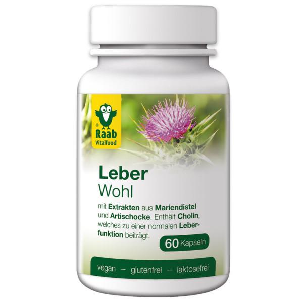Leberwohl, 60 Kapseln à 550 mg (33g) Raab Vitalfood