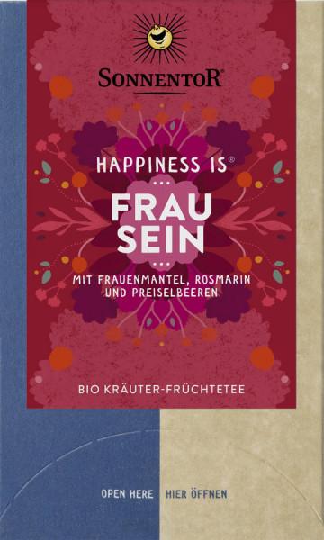 *Bio Frau sein Tee Happiness is®, Doppelkammerbeutel (30,6g) Sonnentor