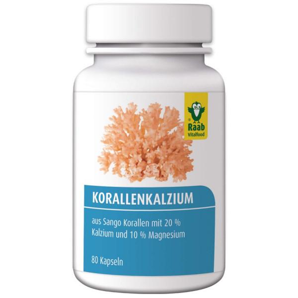 Sango Korallenkalzium Kapseln, 80 Kapseln à 600 mg (48 g) (48g) Raab Vitalfood