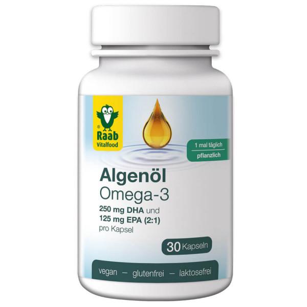 Algenöl Omega-3 Kapseln (35,5g) Raab Vitalfood
