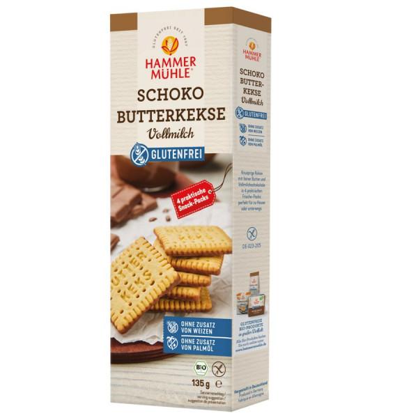 *Bio Bio Schoko Butterkekse - Vollmilch gf (135g) Hammermühle