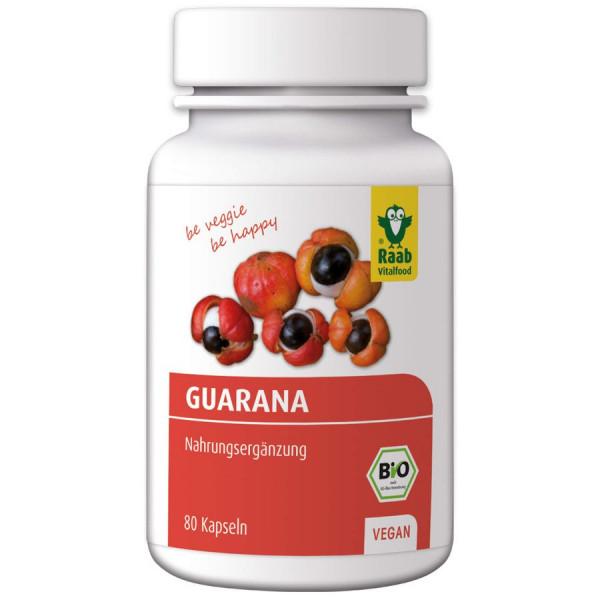 *Bio BIO Guarana Premium-Kapseln, 80 St. à 500 mg, Wirkstoff: 400 mg (40g) Raab Vitalfood