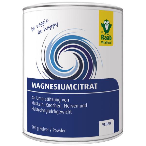 Magnesium Citrat Pulver (200g) Raab Vitalfood