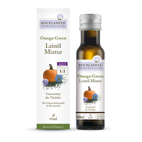 *Bio Omega Green Leinöl-Mixtur (0,1l) BIO PLANÈTE