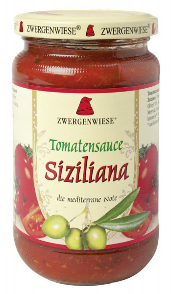 *Bio Tomatensauce Siziliana (340ml) Zwergenwiese