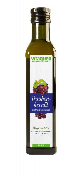 Traubenkern-Öl, raffiniert (0,25l) Vitaquell