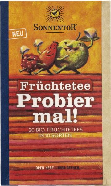 *Bio Früchtetee Probier mal!, Doppelkammerbeutel (49,4g) Sonnentor