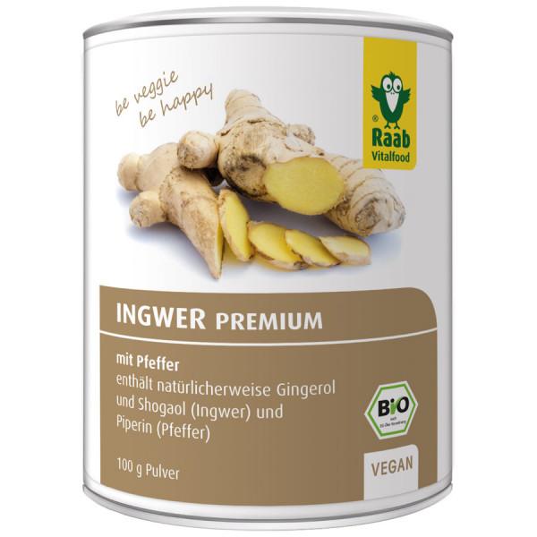 *Bio BIO Ingwer Premium mit Pfeffer (100g) Raab Vitalfood