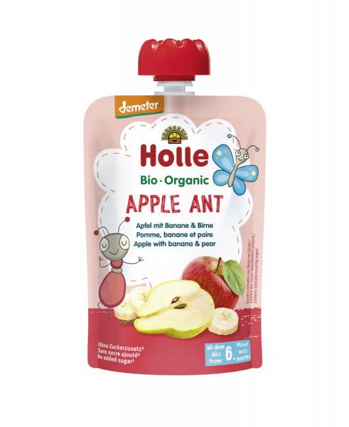*Bio Apple Ant - Pouchy Apfel & Banane mit Birne (100g) Holle