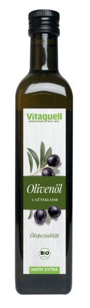 *Bio Olivenöl Bio, EU 1. Güteklasse, nativ extra (500ml) Vitaquell