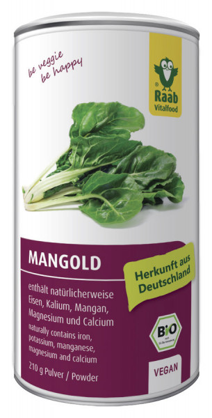 *Bio BIO Mangold Pulver (210g) Raab Vitalfood