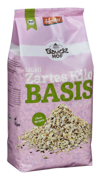 *Bio Basis Müzli Das zarte Kilo Demeter (1000g) Bauckhof