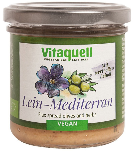 *Bio Lein-Mediterran Bio, vegan (130g) Vitaquell