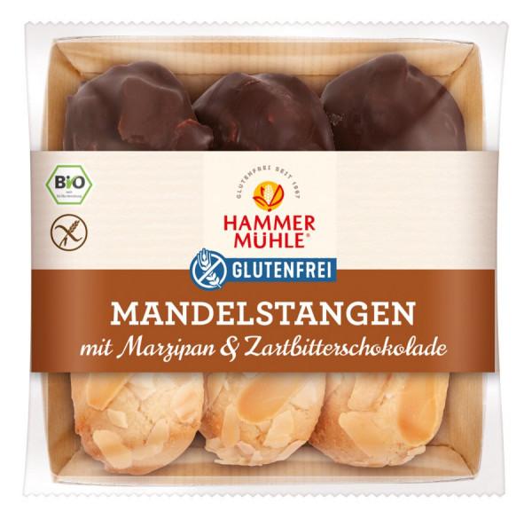 *Bio Bio Mandelstangen mit Marzipan & Zartbitterschokolade gf (125g) Hammermühle