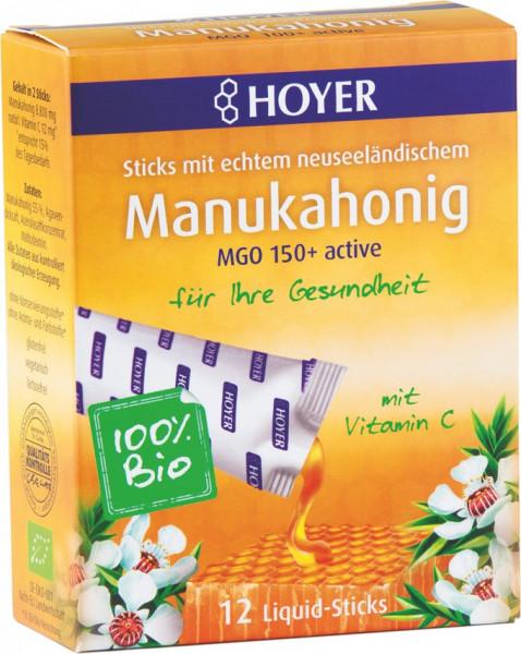 *Bio Manuka Liquid Sticks MGO 150+ active (12Sticks) Hoyer