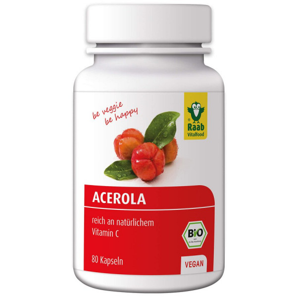 *Bio Bio Acerola Kapseln, á 500mg, 80 Stück (40g) Raab Vitalfood